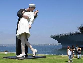 Kissing Soldier Statue San Diego.JPG