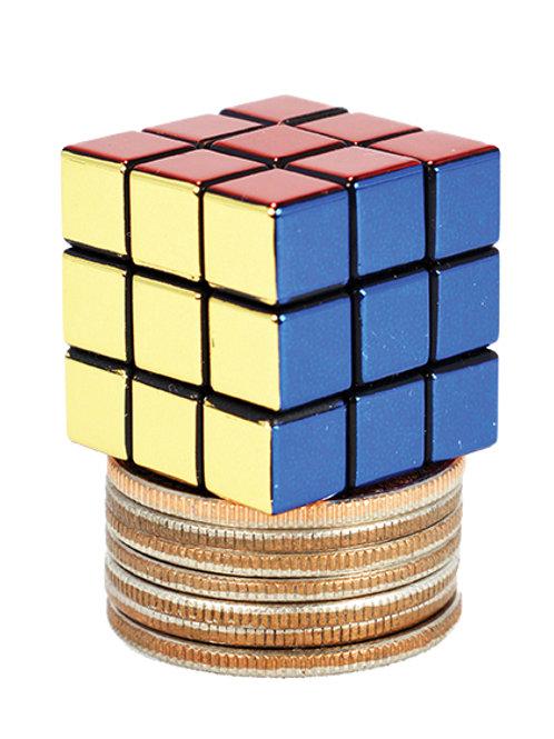 World's Smallest 40th Anniversary Rubik's Cube