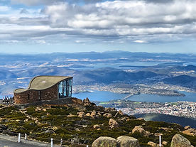 Hobart from Mount Wellington, Tasmania,