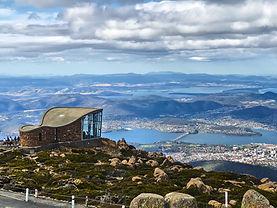 Hobart from Mount Wellington, Tasmania,