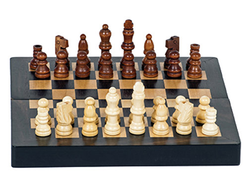 Wood Expressions Walnut Folding Magnetic Chess Set