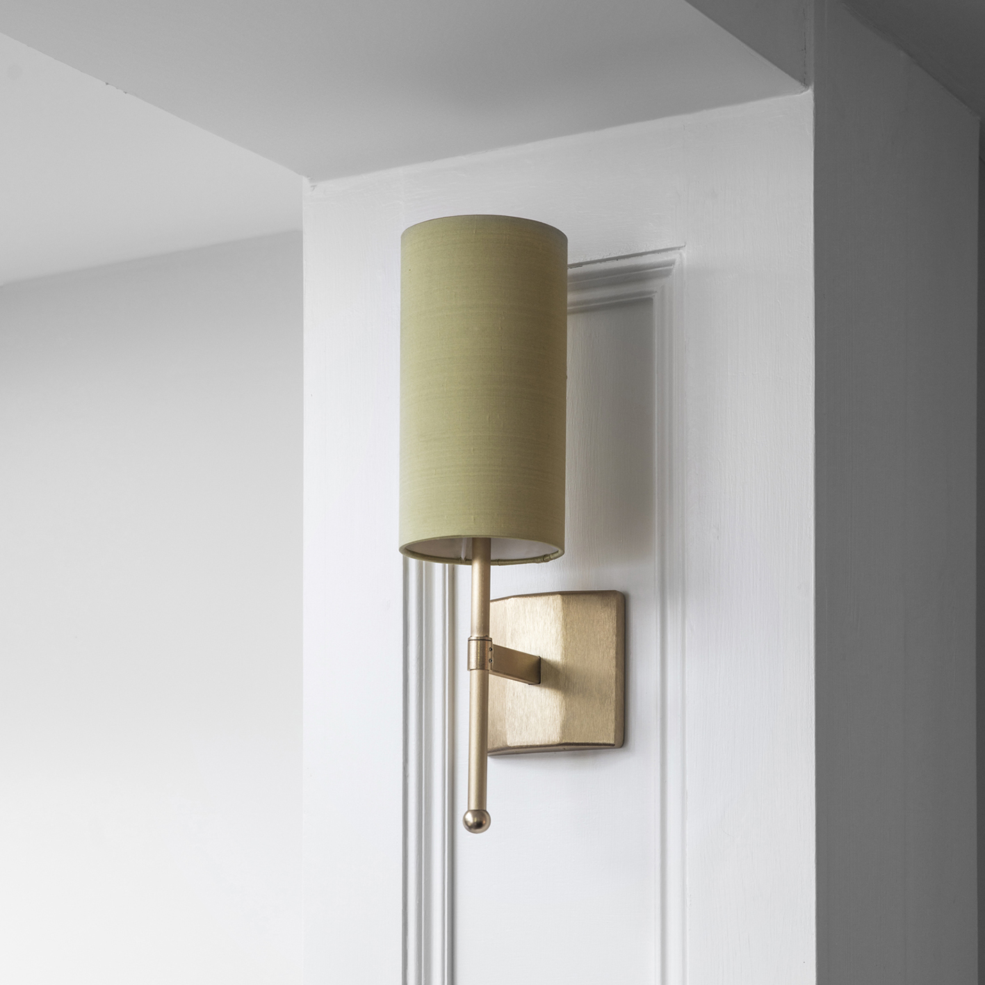 Celery Silk Single Stem Wall Light in Go