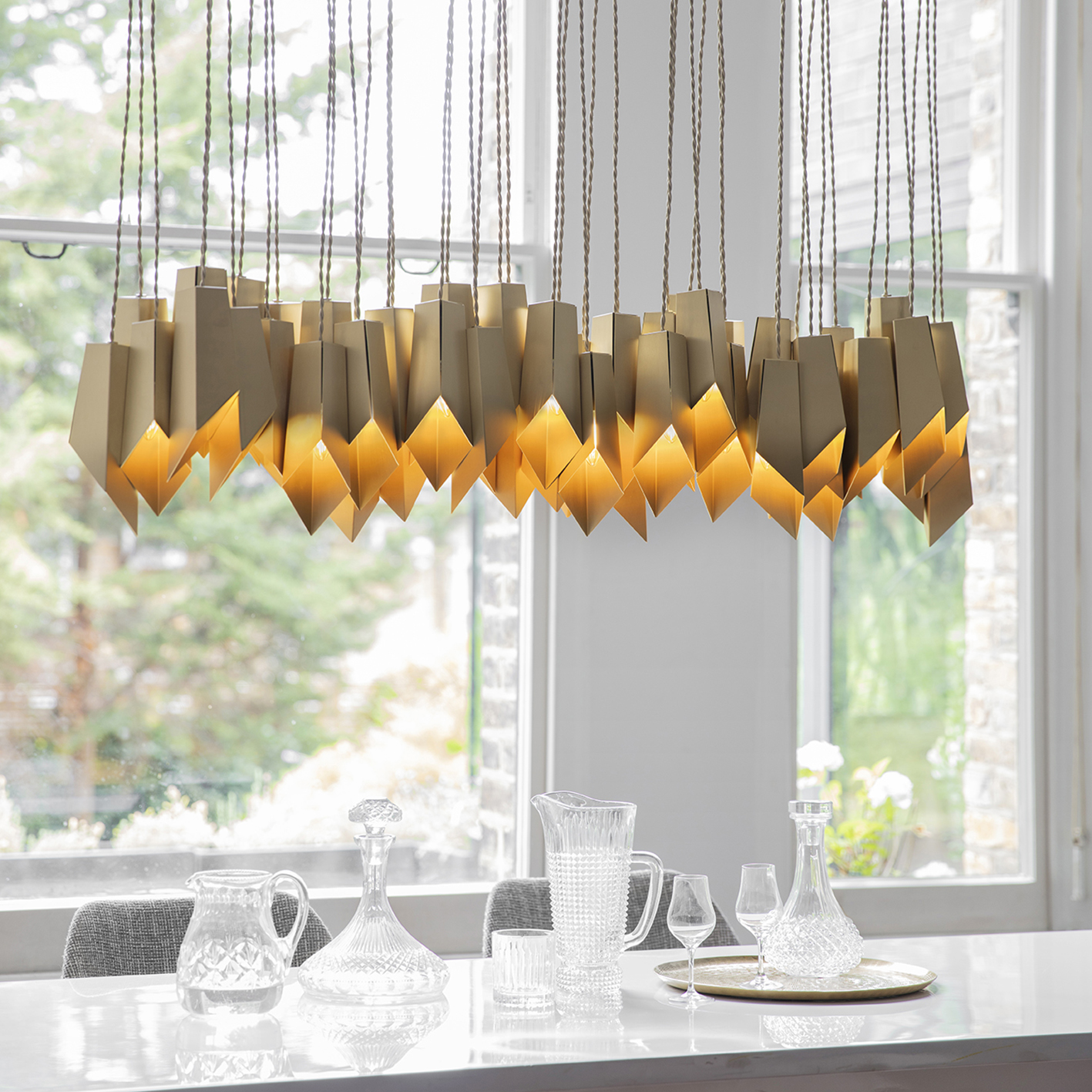 Brass Fold Linear Chandelier Lifestyle_S