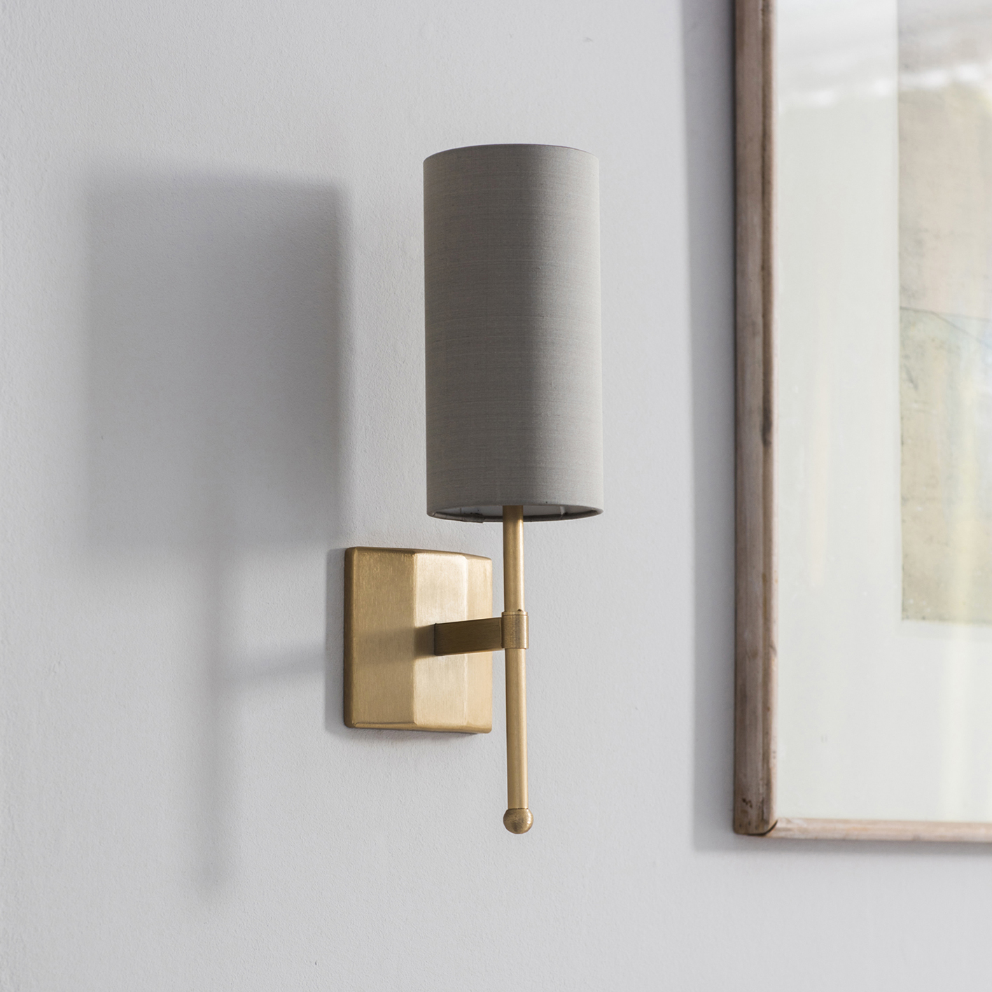 Birch Silk Single Stem Wall Light w Gold