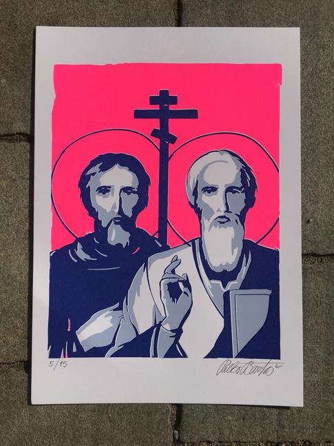 Cyril a Metod ružový