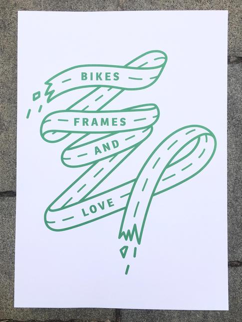 Bikes, Frames and Love zelený