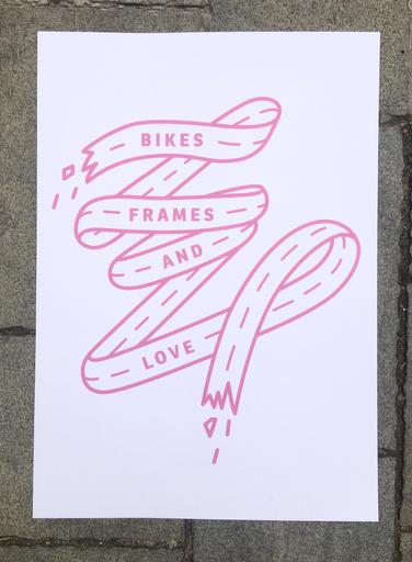 Bikes, Frames and Love  ružový
