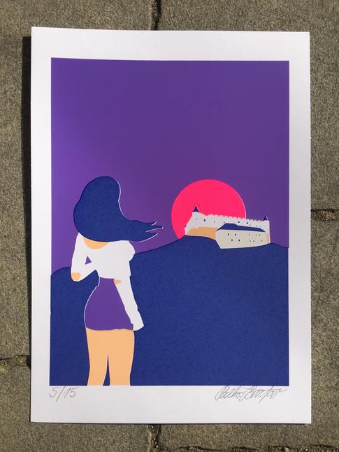 Zvolen fialový