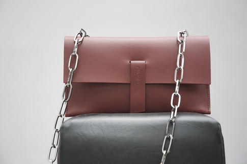 Chain Bag Dark Red