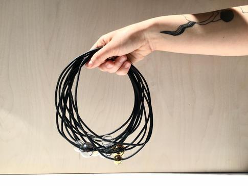 náhrdelník Bubbles black