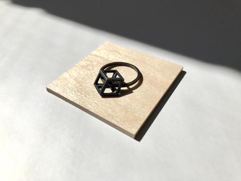 prsteň Rhombus patina