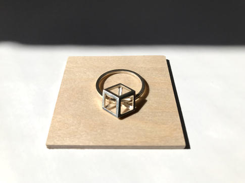 prsteň Rhombus Ag