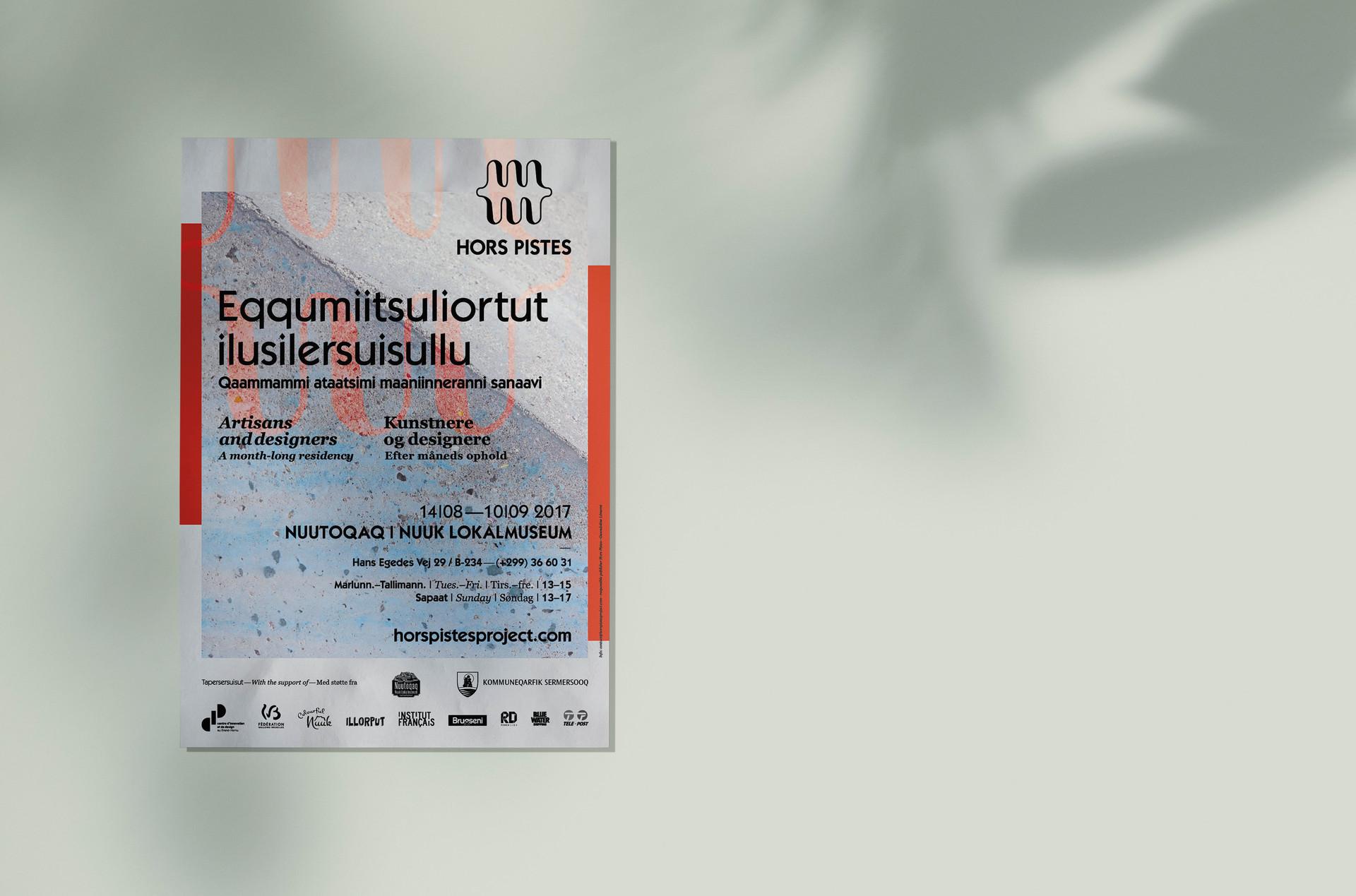PosterLokalMuseum_HorsPistes_Nuuk2017 co