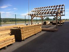 Stock chervons en sapin autoclave et carport bois