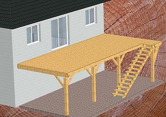 Terrasse bois sur pilotis en vente Lunéville.