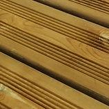 Terrasse bois pin autoclave brun en vente proche de Nancy Lorraine.