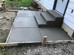 Small porch and steps