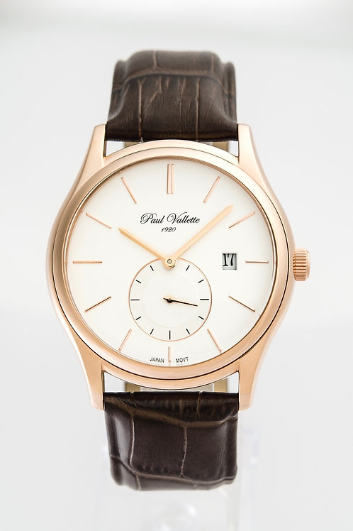 Paul Vallette Pink Gold Plated men's Watch