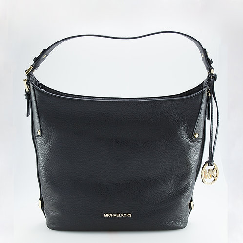 MICHAEL KORS   Bedford Large Black Leather Shoulder Bag