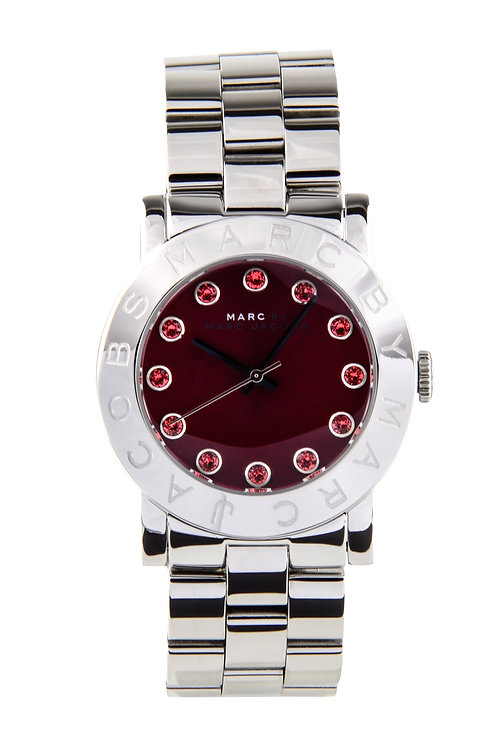 MARC JACOBS | Amy Stainless/Cabernet with Orange Glow Dial MBM3333