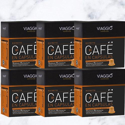 1. Ristetto | 60 Coffee Capsule Compatible with Nespresso®