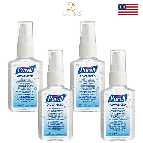 Purell Advanced Hand Sanitizer (60ml) x 4 bottles