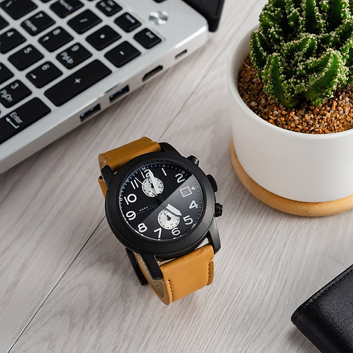 Marc by Marc Jacobs – 男士皮帶手錶 46mm