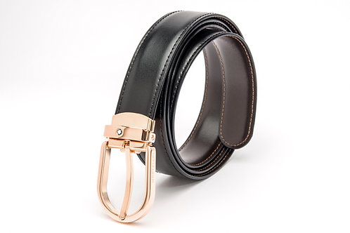 MONTBLANC | Black/Brown Leather Reversable Men's Belt 111633