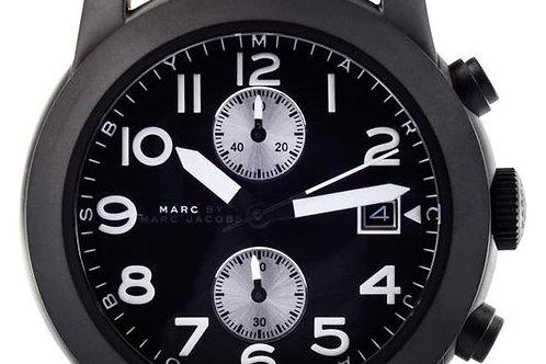 Marc by Marc Jacob   Larry Chronograph Black Dial Tan Leather Men's Watch