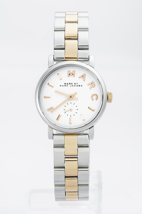 MARC JACOBS   Baker White Dial Two-tone Ladies Watch
