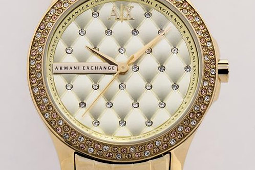Armani Exchange | Lady Hamilton Champagne Dial Gold-plated Unisex Watch