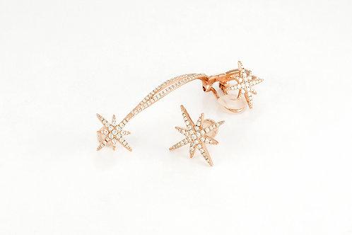 APM Monaco. | Asymmetric Meteorites Rose Silver Clip Earrings