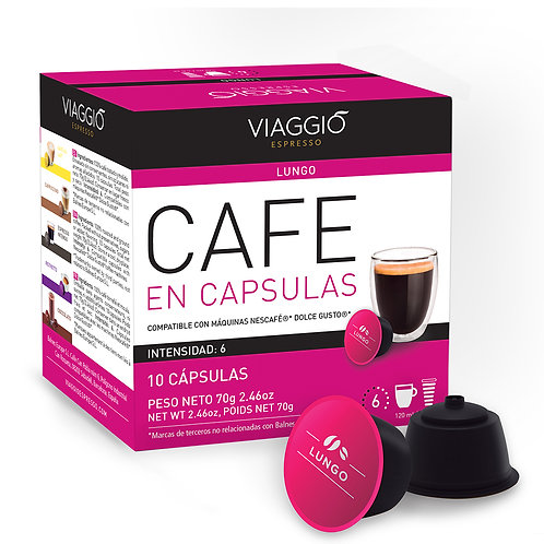 03. Lungo Coffee | 10 Coffee Capsules Compatible with Dolce Gusto®