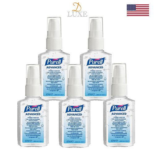 Purell Advanced Hand Sanitizer (60ml) x 5 bottles