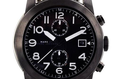 Marc by Marc Jacob | Larry Black Dial Black Leather Men's Watch