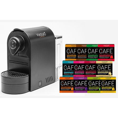 Coffee Machine Set (BLACK) with 300 capsules