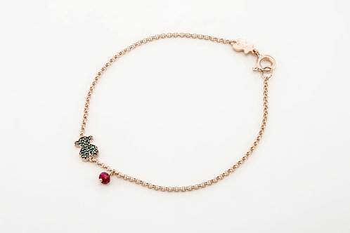 TOUS | Rose Vermeil Silver Motif Bracelet