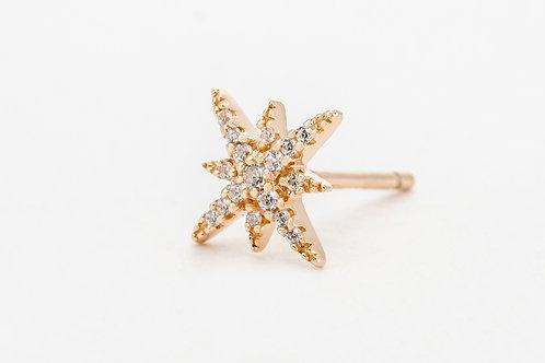 APM Monaco. | METEORITES ROSE Pink Silver Meteorites Stud Earrings