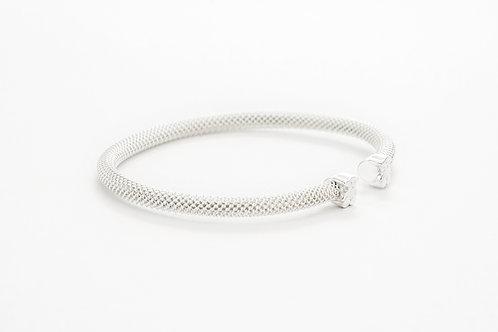 TOUS   Silver Mesh Bracelet