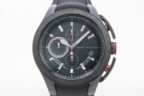 Armani Exchange | Chronograph Black Dial Black Silicone Rubber Men's Watch