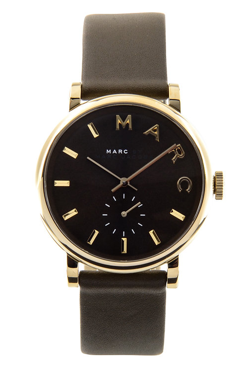 MARC JACOBS   Baker Olive Dial Olive Leather Ladies Watch MBM1328