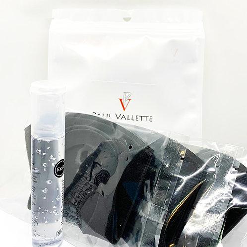 寶樂威 - 3 個/ 1 套3D 防塵防霧霾可重用和水洗口罩獨立包裝連EXIT 7酒精搓手液