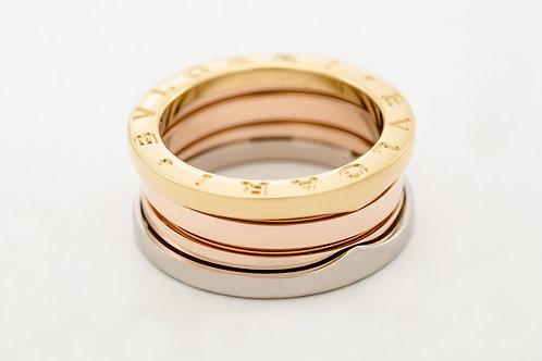 BVLGARI | B.Zero1 18K Pink White and Yellow Gold 3 Band Ring