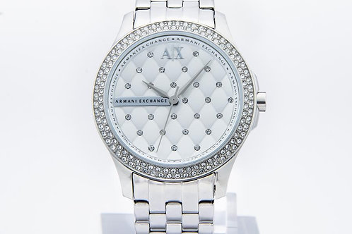 Armani Exchange | Lady Hamilton Silver Quilted Dial Ladies Watch