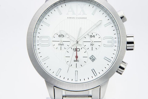 Armani Exchange | Chronohraph Silver Dial Stainless Steel Men's Watch