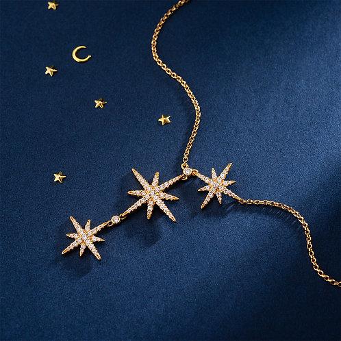 APM Monaco -MÉTÉORITES 纯銀三流星可調節項鍊