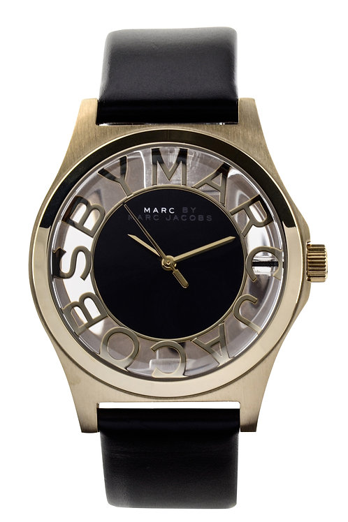 MARC JACOBS   Henry Skeleton Gold Leather Ladies Watch MBM1246