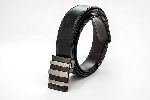 MONTBLANC | Palladium Buckle Reversible Black/Brown Leather Belt 103427