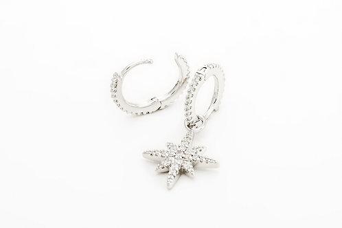 APM Monaco. | METEORITES DE NOEL Little Meteorites Asymmetric Silver Earrings