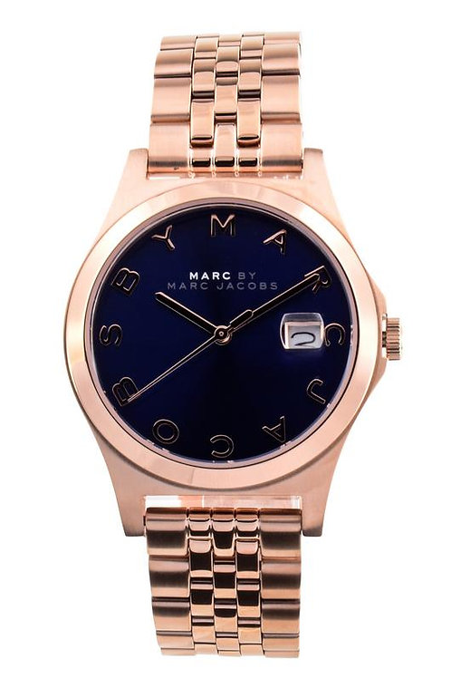 Marc by Marc Jacob | The Slim Blue Dial Rose Gold-tone Steel Men's Watch